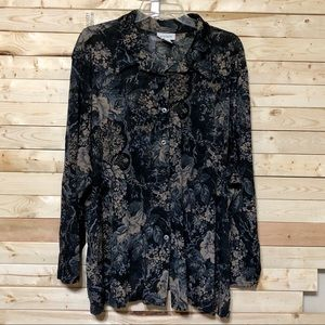 Avenue Floral Print Top Plus Size 30/32